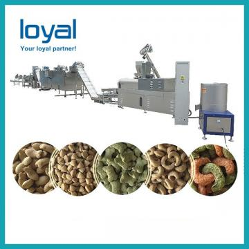 Custom Extrusion Dog Food Production Line High Performance PLC Control 100kg Per Hour